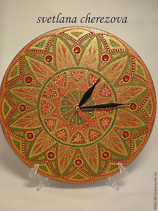 """Часы для дома ручной работы. Ярмарка Мастеров - ручная работа. Купить Часы """"Солнце над Килиманджаро"""". Handmade. Золотой"""