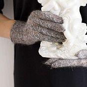 Аксессуары ручной работы. Ярмарка Мастеров - ручная работа Ажурные перчатки из козьего пуха АЛЬФИЗА. Handmade.