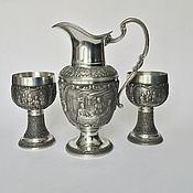 Винтаж handmade. Livemaster - original item Set of tin for wine collection Lindenwirtin. Handmade.
