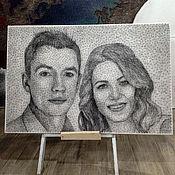 Картины и панно ручной работы. Ярмарка Мастеров - ручная работа портрет пары на заказ. Handmade.