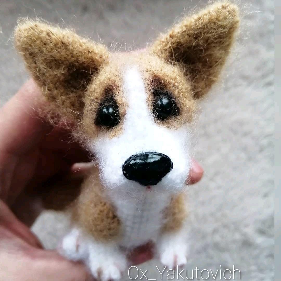 Корги: Вязаная собачка крючком. Амигуруми, Мягкие игрушки, Тула,  Фото №1