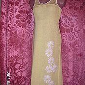 Одежда ручной работы. Ярмарка Мастеров - ручная работа сарафан Ромашки из вискозного шелка и хлопка. Handmade.