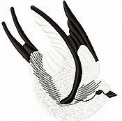 Дизайн и реклама ручной работы. Ярмарка Мастеров - ручная работа ласточки четыре дизайна  машинной вышивки. Handmade.