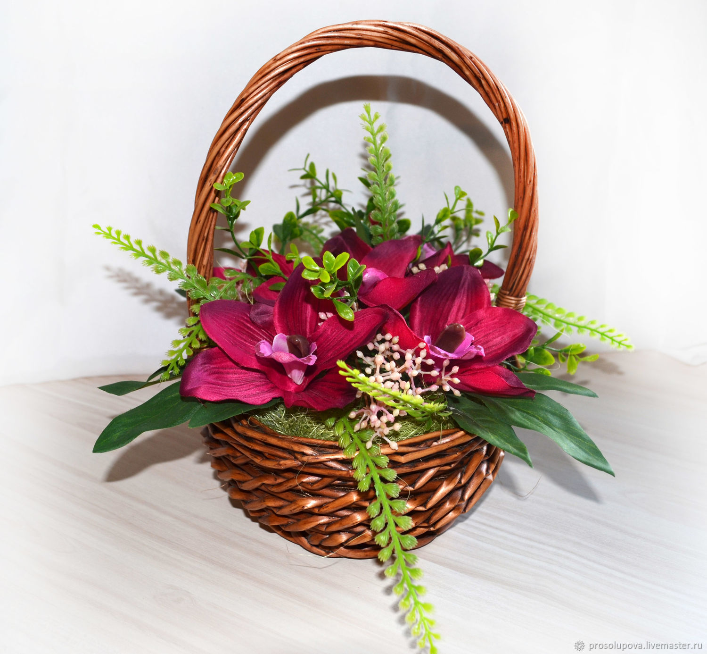 Корзина с цветами, Композиции, Санкт-Петербург, Фото №1