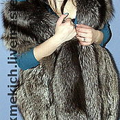 Одежда handmade. Livemaster - original item Fur vest from the silver Fox