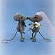 Игрушки животные, ручной работы. Мышиная свадьба. Карманова Юлия (little-ejik). Ярмарка Мастеров. Мышки, Молодоженам, вязаная игрушка