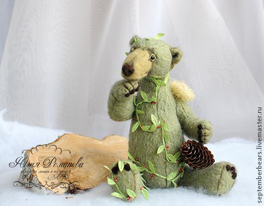 Мишки Тедди ручной работы. Ярмарка Мастеров - ручная работа. Купить Дочь Лесного Короля. Handmade. Зеленый, клюква, лес