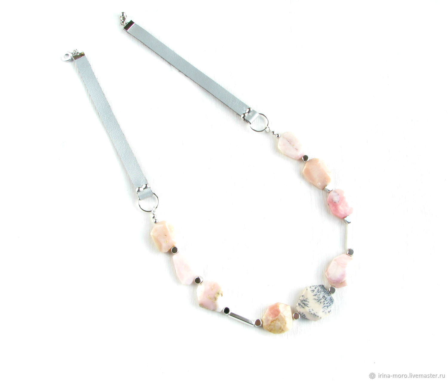 Necklace with pink opal 'Rhapsody' necklace with opals, decoration, Necklace, Moscow,  Фото №1