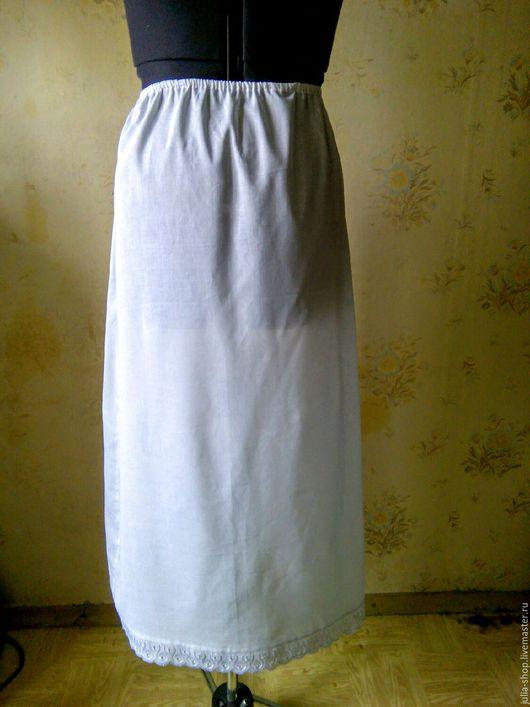 Юбки ручной работы. Ярмарка Мастеров - ручная работа. Купить Летняя нижняя юбка в пол.. Handmade. Юбка, нижняя юбка