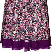 """Одежда ручной работы. Ярмарка Мастеров - ручная работа """"Лоскутный огурчик"""" юбка. Handmade."""
