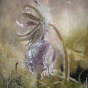 """Картины и панно ручной работы. Ярмарка Мастеров - ручная работа Картина из шерсти """"Утро Вселенной"""". Handmade."""
