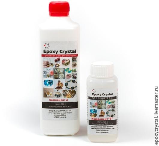 Прозрачная смола. 625 г. Для бижутерии и сувениров. EpoxyCrystal.