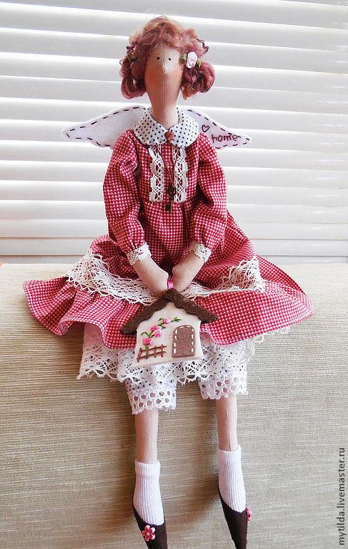 Куклы Тильды ручной работы. Ярмарка Мастеров - ручная работа. Купить Домашняя Феечка. Handmade. Бордовый, семейный очаг