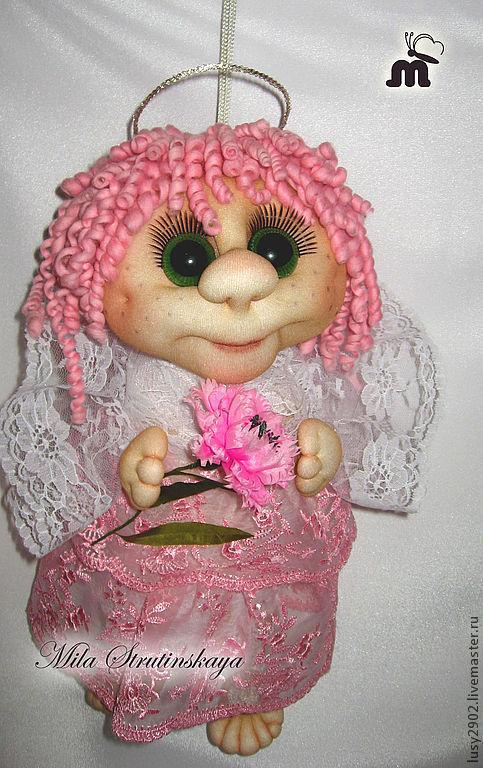 Коллекционные куклы ручной работы. Ярмарка Мастеров - ручная работа. Купить Розовый Ангел-Хранитель. Handmade. Розовый, ангелочек
