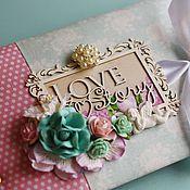 "Канцелярские товары ручной работы. Ярмарка Мастеров - ручная работа Альбом ""Love Story"" для влюблённых. Handmade."