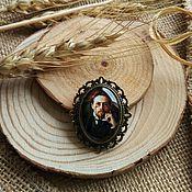 Украшения handmade. Livemaster - original item Bronze brooch A. P. Chekhov. Handmade.