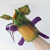 Куклы и игрушки ручной работы. Ярмарка Мастеров - ручная работа Цветочный дракончик кукла на руку. Handmade.
