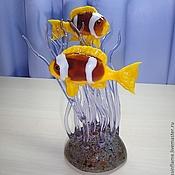 Для дома и интерьера ручной работы. Ярмарка Мастеров - ручная работа Рыбы клоуны в зарослях анемонов. Handmade.