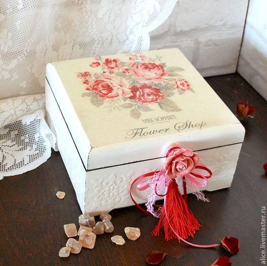"""Корзины, коробы ручной работы. Ярмарка Мастеров - ручная работа. Купить """"Розовый сон"""" короб. Handmade. Розовый, коробка для мелочей"""