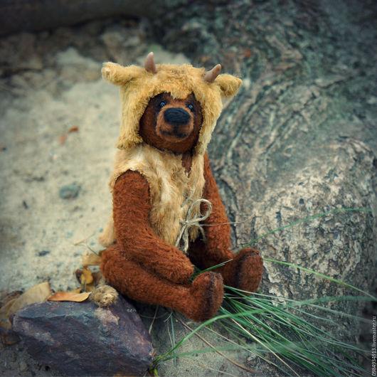 авторский мишка тедди Теленок от Белоусовой Наталии . плюшевый мишка тедди . купить мишку тедди . мишка тедди с опилочками