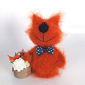 Куклы и игрушки ручной работы. Ярмарка Мастеров - ручная работа Кот Ивашка (вязаный кот, игрушка, подарок). Handmade.