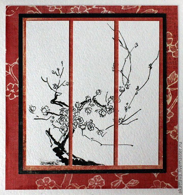 Марта сделанные, открытки своими руками в японском