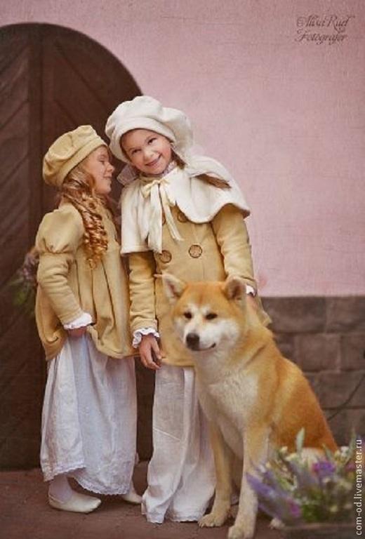 Карнавальные костюмы ручной работы. Ярмарка Мастеров - ручная работа. Купить винтажное пальто для девочки. Handmade. Бежевый, винтажный стиль