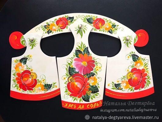Доски набор расписаны волховской росписью, Доски, Тула,  Фото №1