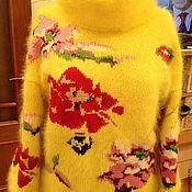 """Одежда ручной работы. Ярмарка Мастеров - ручная работа кофта из ангоры """"Розы"""". Handmade."""