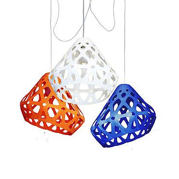 Для дома и интерьера ручной работы. Ярмарка Мастеров - ручная работа ZAHA LIGHT трехцветная трехрожковая люстра 17. Handmade.