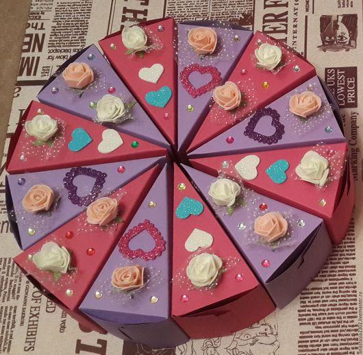 """Персональные подарки ручной работы. Ярмарка Мастеров - ручная работа. Купить Бумажный торт """"Признание"""". Handmade. Комбинированный, для подарка"""