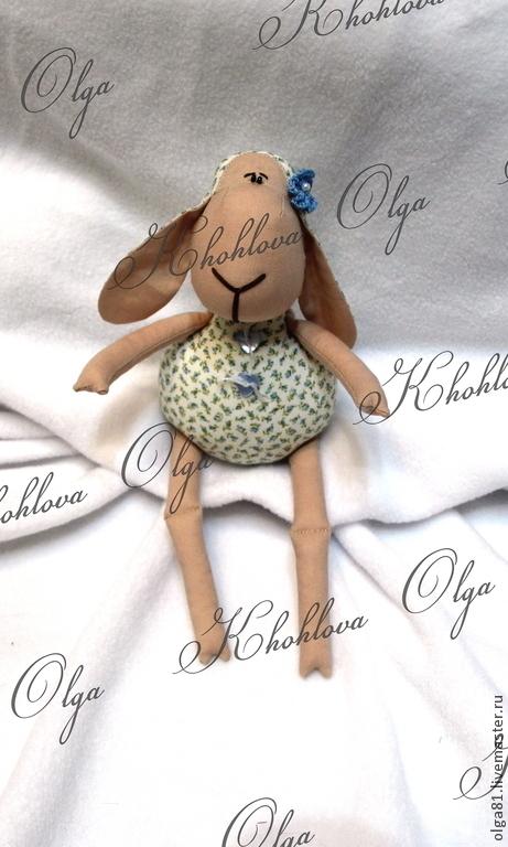 """Куклы Тильды ручной работы. Ярмарка Мастеров - ручная работа. Купить Овечка """" Цветочек"""". Handmade. Голубой, Овечки"""