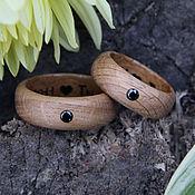 Rings handmade. Livemaster - original item Copy of Wooden ring with emerald. Handmade.