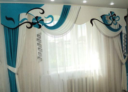 Текстиль, ковры ручной работы. Ярмарка Мастеров - ручная работа. Купить Шторы. Handmade. Бирюзовый, шторы для спальни, шторы для дома