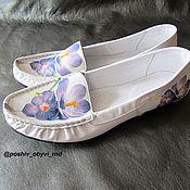 Обувь ручной работы. Ярмарка Мастеров - ручная работа Мокасины Весна. Handmade.