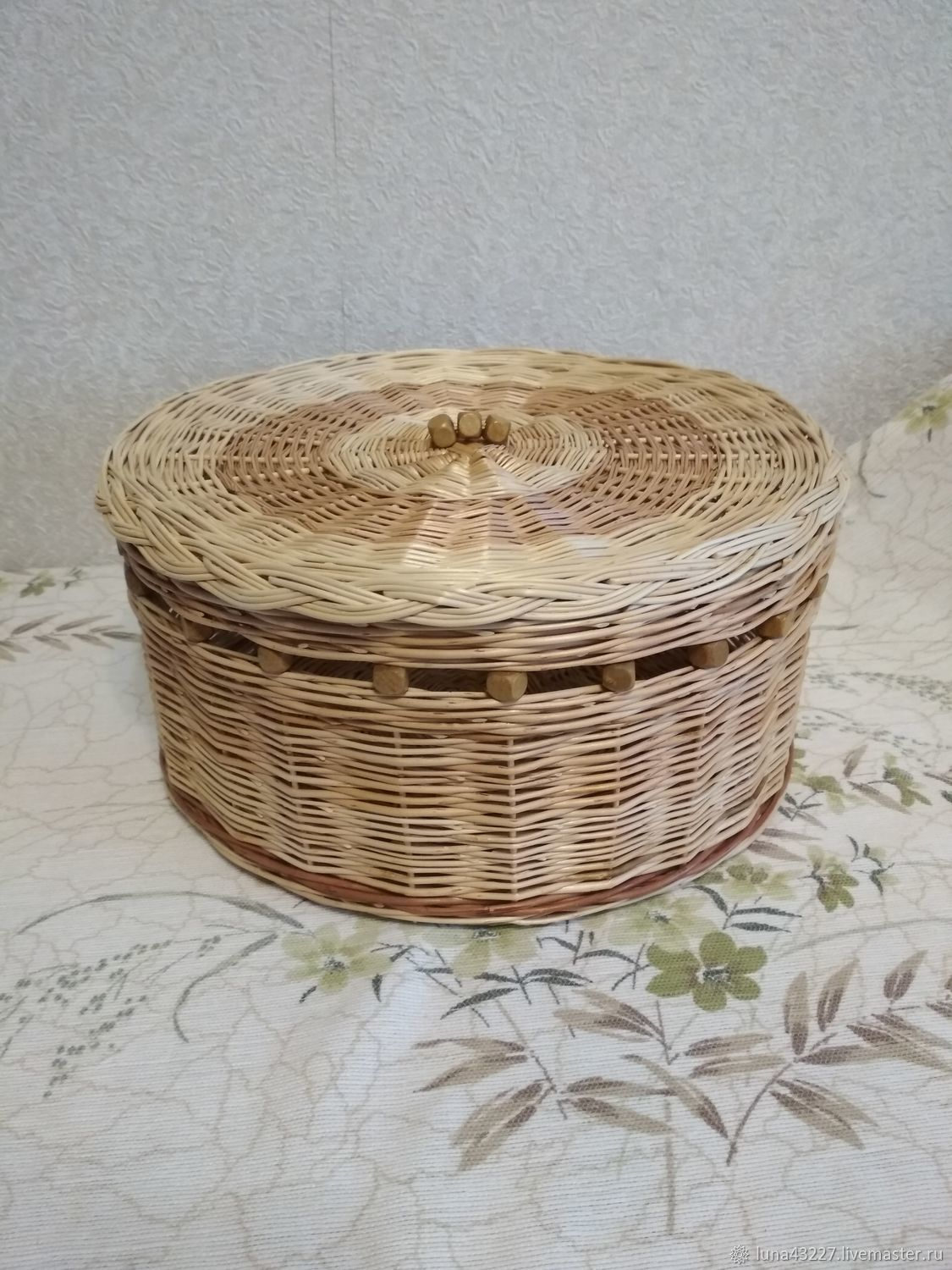 Jewelry box with beads, woven from willow twigs, Box, Kirovo-Chepetsk,  Фото №1