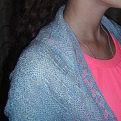 Одежда ручной работы. Ярмарка Мастеров - ручная работа Накидка болеро голубой меланж. Handmade.