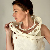 Украшения handmade. Livemaster - original item Necklace of biscuit porcelain with Japanese pearls. Handmade.