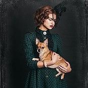 "Dresses handmade. Livemaster - original item Dress-coat ""the Green Muse"". Handmade."