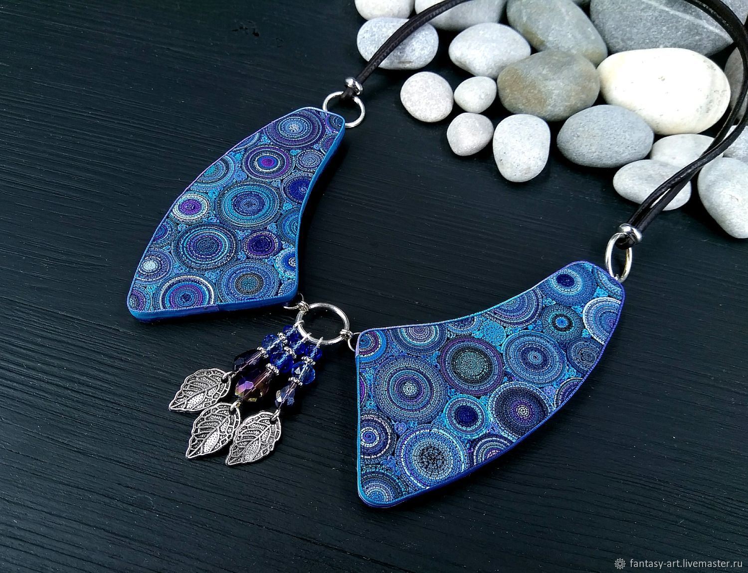Choker collar from polymer clay - the Cosmic play, Necklace, Tambov,  Фото №1