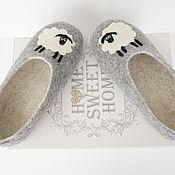"""Обувь ручной работы. Ярмарка Мастеров - ручная работа валяные тапочки """"Овечки""""  38разм. Handmade."""
