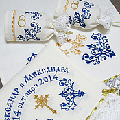 Свадебный салон handmade. Livemaster - original item Set for wedding. SKU: 0226-1 (blue-gold). Handmade.