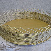 Для дома и интерьера ручной работы. Ярмарка Мастеров - ручная работа Набор подносов 2 шт из ивовой лозы. Handmade.