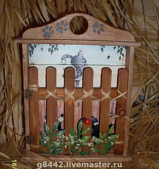 """Прихожая ручной работы. Ярмарка Мастеров - ручная работа. Купить Ключница """"Кошачья жизнь"""". Handmade. Подарок, для дачи"""