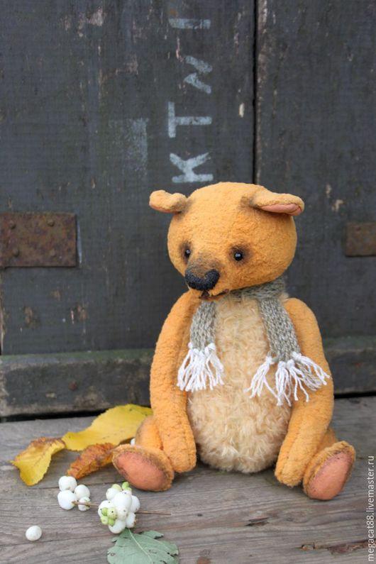 Мишки Тедди ручной работы. Ярмарка Мастеров - ручная работа. Купить Мишка тедди Листопад. Handmade. Рыжий, осенний мишка
