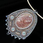 Украшения handmade. Livemaster - original item Bead pendant with natural aventurine. Handmade.