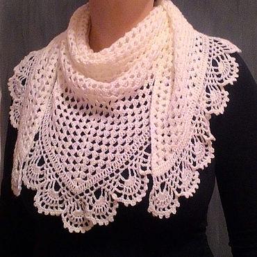 Accessories handmade. Livemaster - original item Bacchus shawl neckerchief Snow white. Handmade.