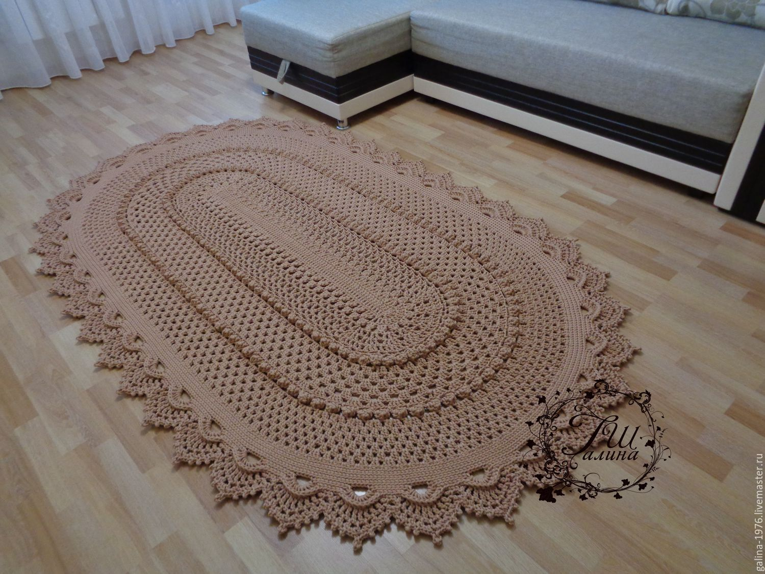 Knitting Rug Patterns : Knitted rug quot true shop online on livemaster with