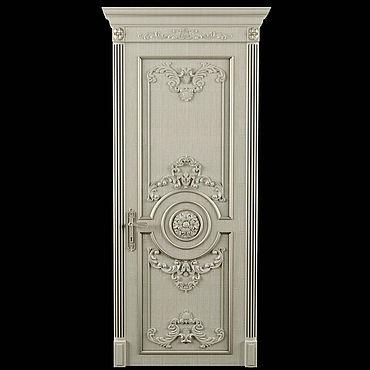 Для дома и интерьера ручной работы. Ярмарка Мастеров - ручная работа Дверь из ясеня (№014)  с наличниками и коробкой. Handmade.
