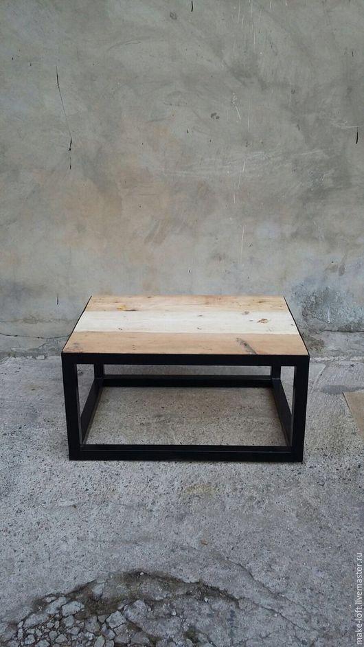 Мебель ручной работы. Ярмарка Мастеров - ручная работа. Купить Журнальный стол из амбарной доски в стиле Лофт. Handmade. Столик